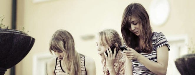 Teen Girls on Phones